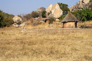 Rundhütten, Zimbabwe
